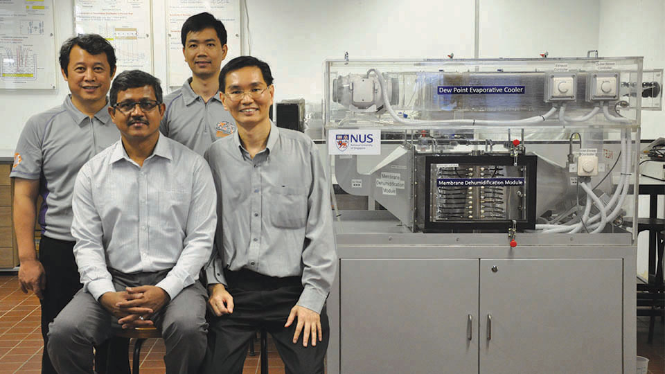 Water-based Air Conditioner cools without harmful Chemicals