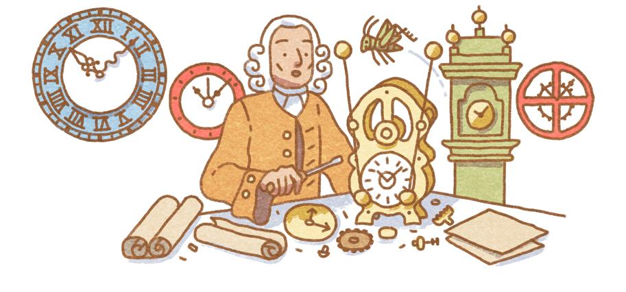 Google Celebrates John Harrison's 325th Birthday