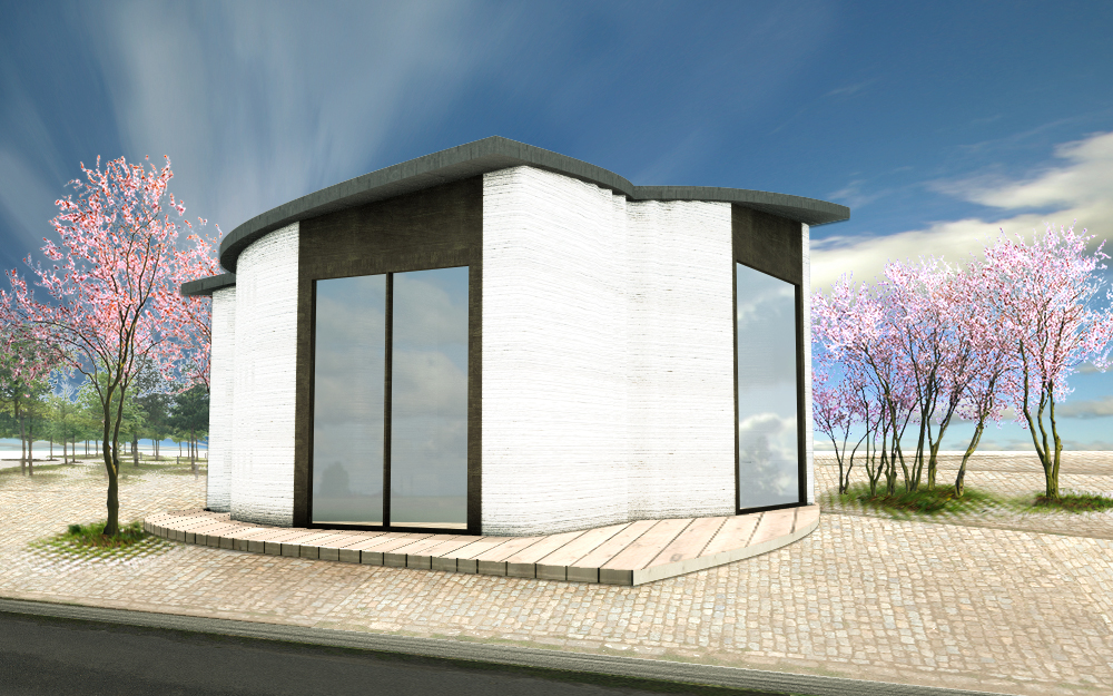 World's First 3D-printed Concrete Houses are coming to Netherlands