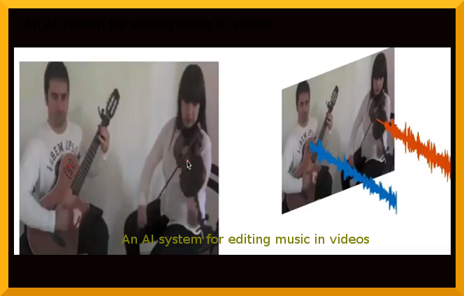 An AI system for editing music in videos