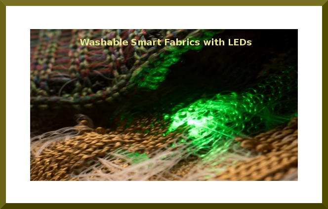 Washable Smart Fabrics with LEDs